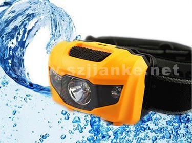 Plastic Waterproof LED Small Headlamp with Logo Printed (4000)
