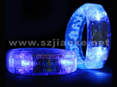 Plastic Blue Light LED Blinking Bracelet with Logo Print (4011)