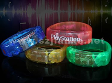 Promotional Music Light up Bracelet with Logo Print (4011)