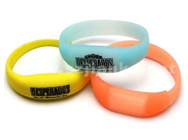 Music LED Light Wristband with Logo Printed (4010)