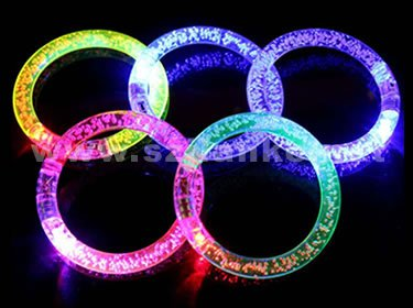 Color Changing Acryl Flashing LED Bracelet for Promotion (4019)